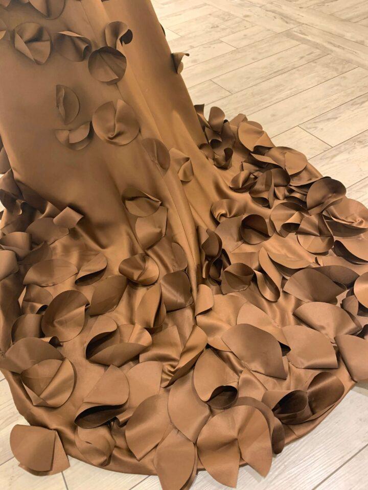 FioreBiancaオリジナルドレス カラードレス エンパイアライン ブラウン