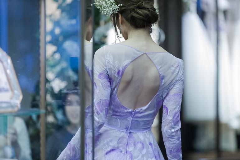 NAEEM KHAN(ナイームカーン) カラードレス Aライン Purple