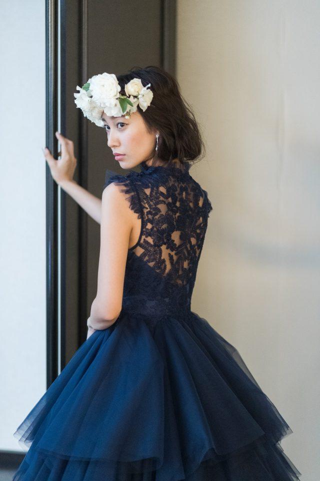 甘すぎないレースが女性心くすぐるLeaf for Brides(リーフフォーブライズ)のカラードレス