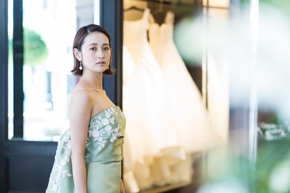 Leaf for Brides(リーフフォーブライズ) カラードレス スレンダーライン