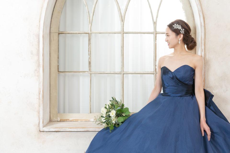アントニオリーヴァ ネイビー カラードレス
