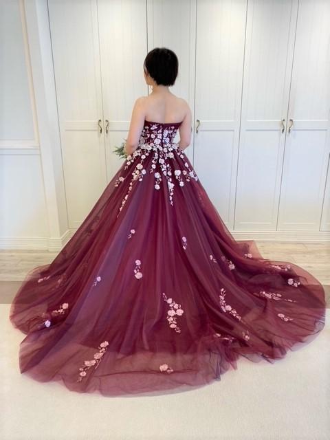 Fiore Bianca(フィオーレビアンカ)オリジナルドレス カラードレス ガーネット