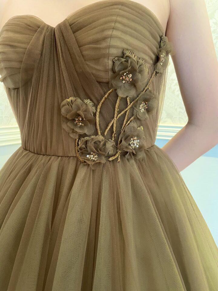 """Fiore Bianca (フィオーレビアンカ)オリジナルカラードレス""""Olive(オリーブ)"""" グリーン"""